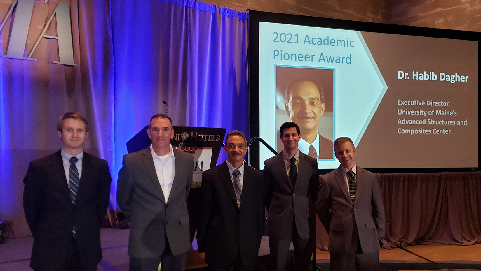 featured image for Dagher recognized as 2021 Academic Pioneer Award recipient from the American Composites Manufacturers Association