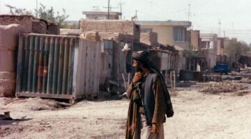 A photo of a person standing outside in Afghanistan