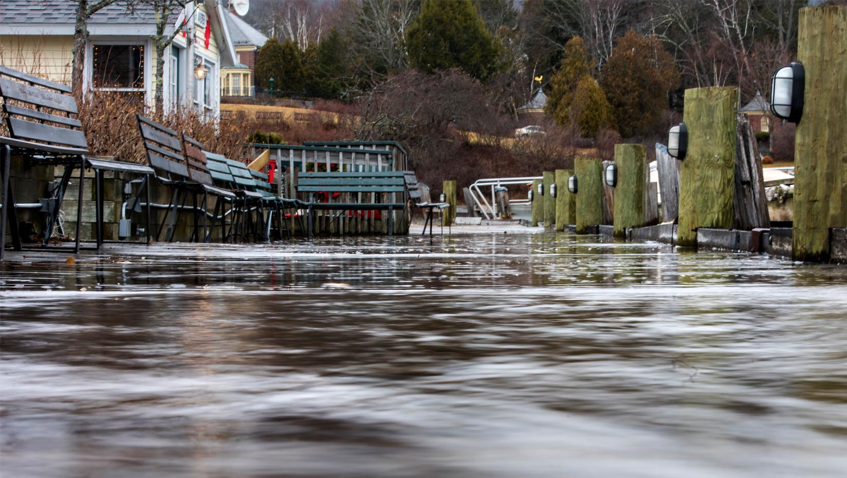 A photo of coastal flooding in Maine