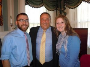 Nursing Students standing with Governor LePage