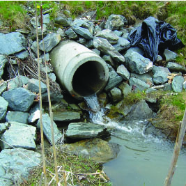 stormwater coming from culvert