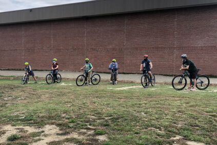 Group of people on bikes