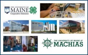 Photo collage of UMaine and University of Maine at Machias