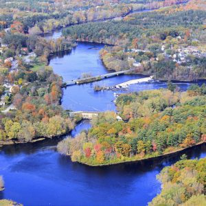 Aerial View Of Stillwater River
