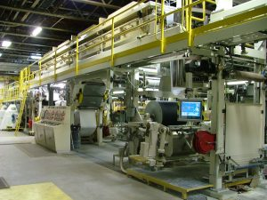 The high-speed coater at Sappi