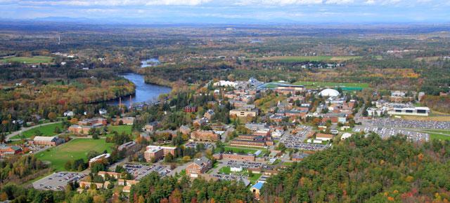 Aerial View of UMaine campus