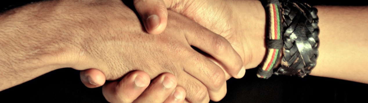 Cropped handshake