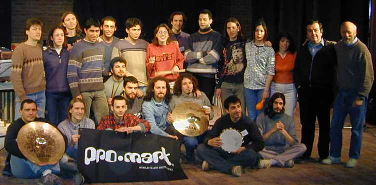 Photograph of group of students taking part in the seminar