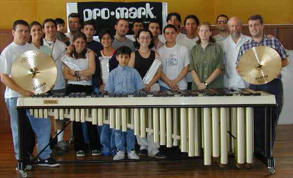 Group of students at the National Institute of Music clinic in Costa Rica