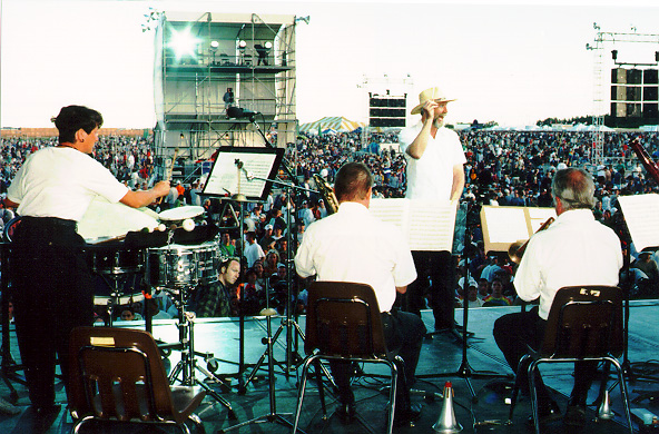 stuart marrs on stage with phish
