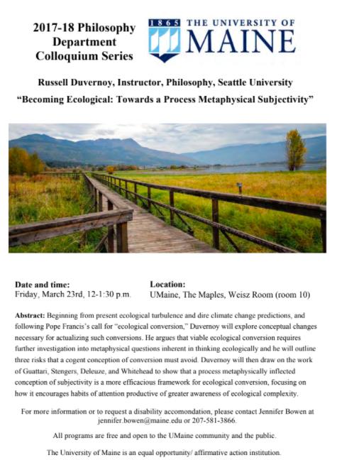 Becoming Ecological: Towards a Process Metaphysical