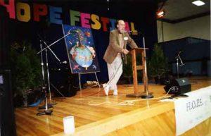 Douglas allen at the podium