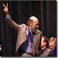 peace sign from professor allen