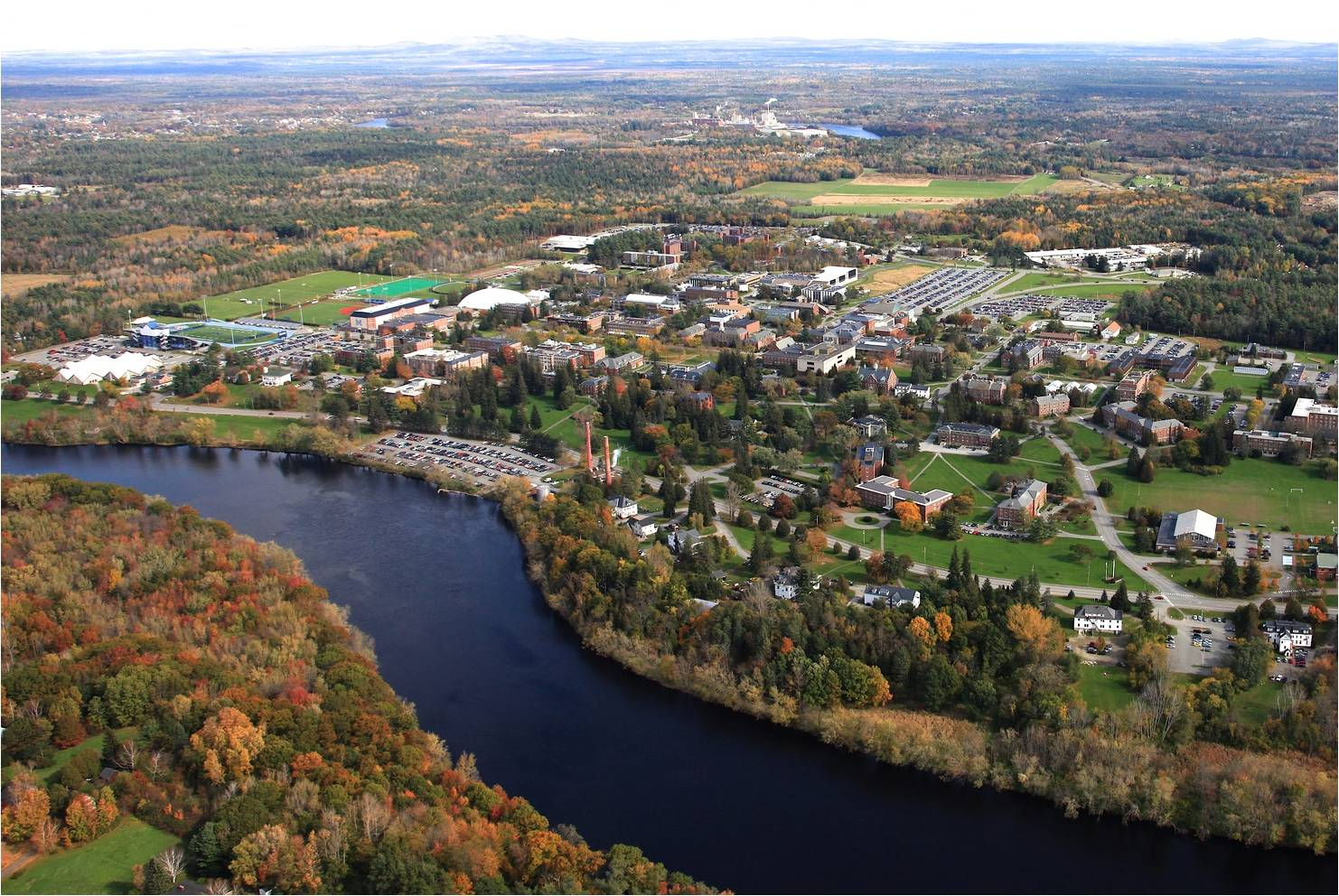 University of maine political science department umaine campus aerial view sciox Gallery