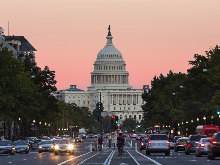 Washington D.C. Capitol and street