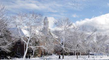 Stevens Hall in winter