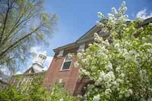 Springtime photo of campus