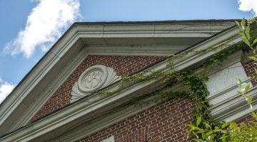 Detail of campus building roofline