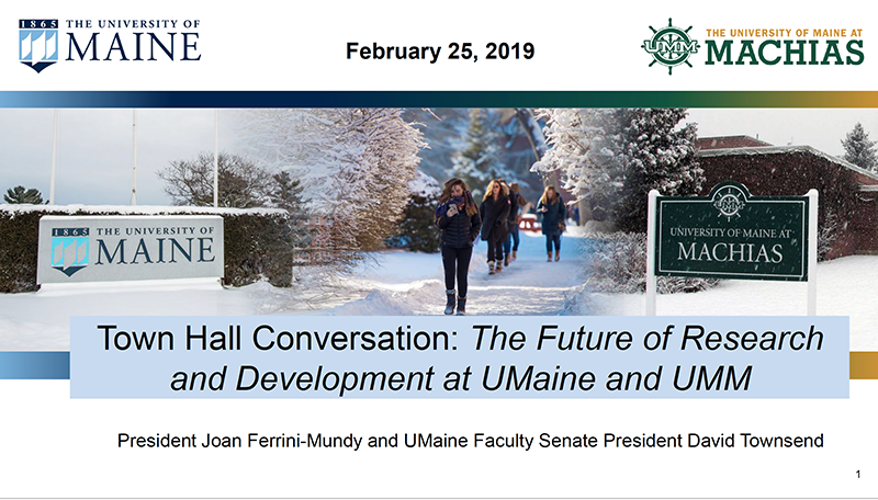 Title slide of R&D Town Hall, February 25 2019