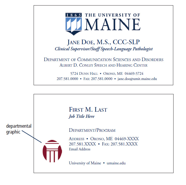 UMaine Letterhead, Envelopes & Business Cards - Printing and Mailing Services - University of Maine