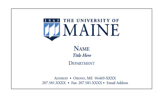 umaine business card - Business Cards Near Me