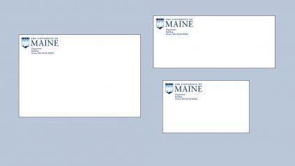 University of Maine envelopes of differing sizes