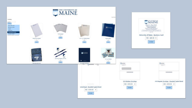 University of Maine web to print