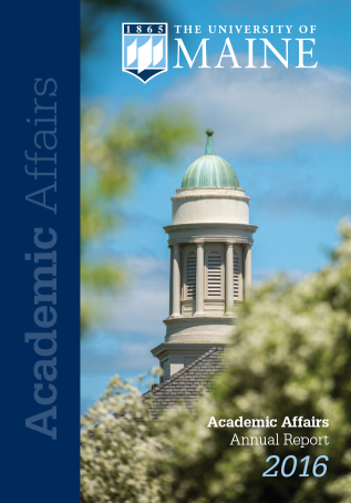Cover image of 2016 Academic Affairs annual report