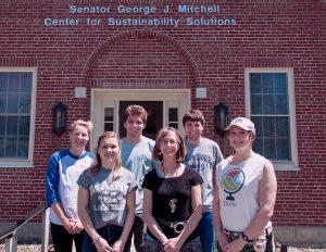 Back L-R: Shayla Kleisinger, Skyler Horton, Andrew Flynn; Front L-R: Hannah Nadeau, Dr. Deborah Saber (PI), Taylor Patterson