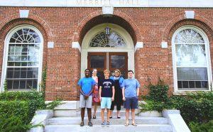 IURC team outside Merrill Hall