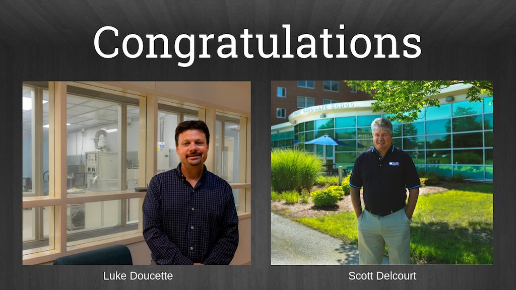 Congratulations Luke Doucette and Scott Delcourt