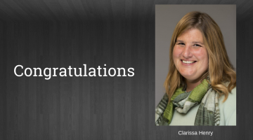 Congratulations to Clarissa Henry