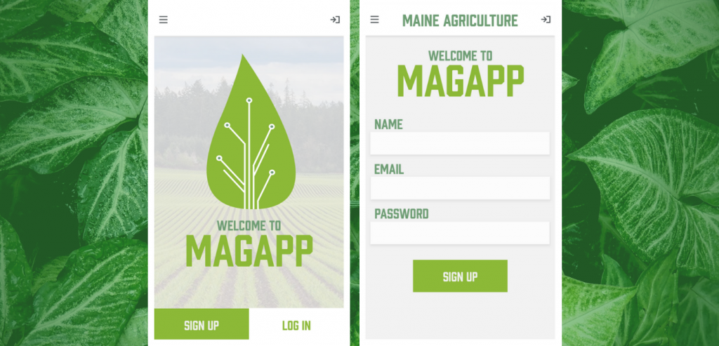 Screenshots of MagApp