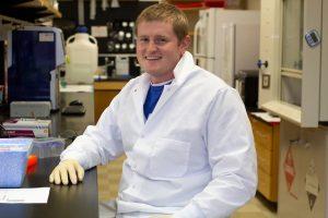James Elliott in lab