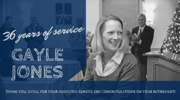 Gayle Jones, 36 years of service at UMaine