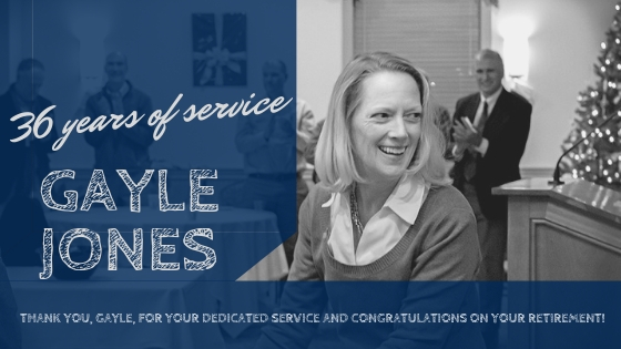 featured image for Retirement of Gayle Jones