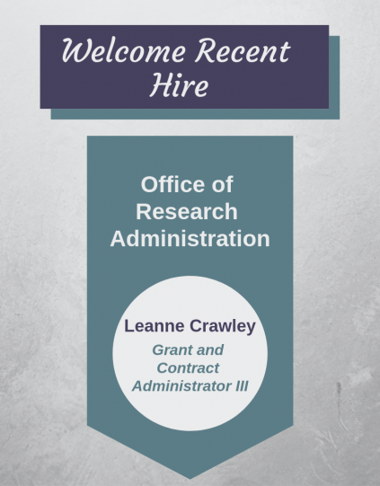 Welcome to Recent Hire Leanna Crawley