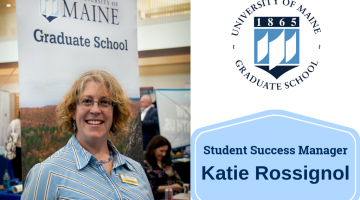 Katie Rossignol new Student Success Manager for UMaine Graduate School