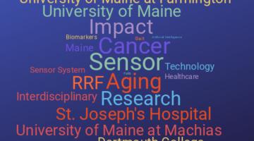 Word map of keywords: RRF, aging, sensor, ...