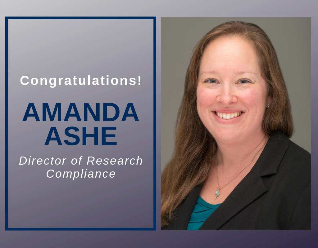 featured image for New Director of Research Compliance: Amanda Ashe
