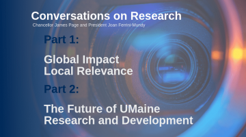 Conversations on Research with Chancellor Page and President Ferrini-Mundy two-part video series
