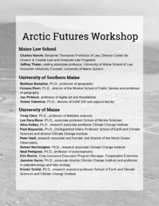 List of Arctic Futures Workshop Attendees