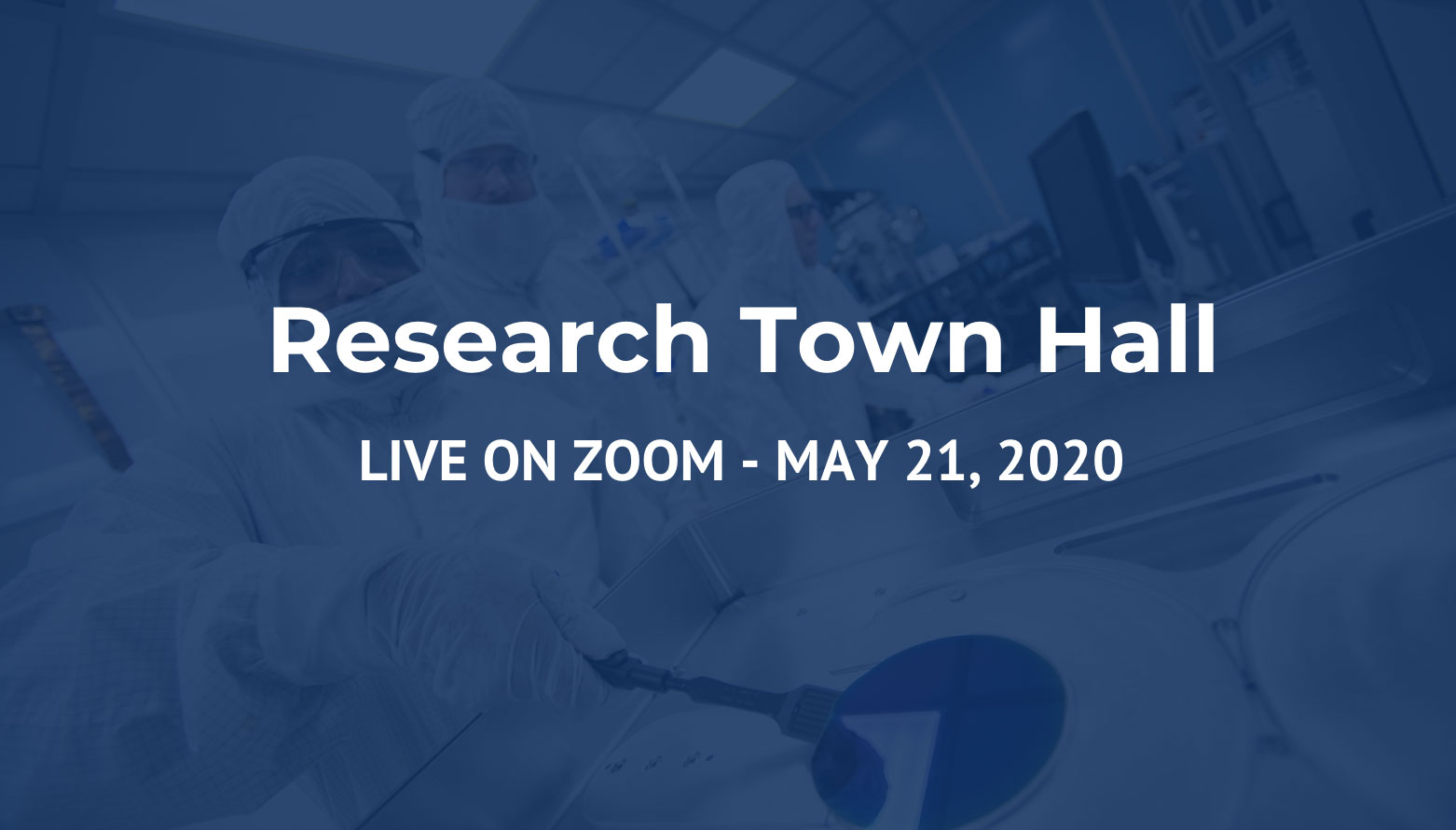 Research Town Hall live image