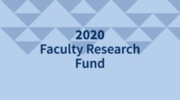 2020 Faculty Research Fund image