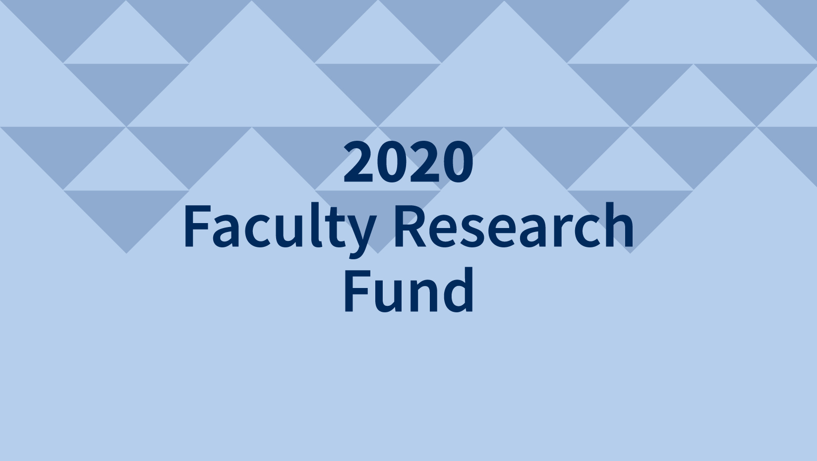 featured image for 2020 Faculty Research Fund Awards Announcement