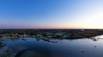 Area Shot of Maine Coast Line