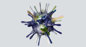 graphic of world as a virus