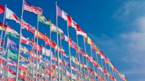 Image of world flags