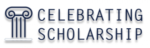 Logo for celebrating scholarship event