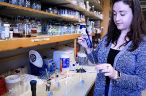 Sarai Smith works in lab